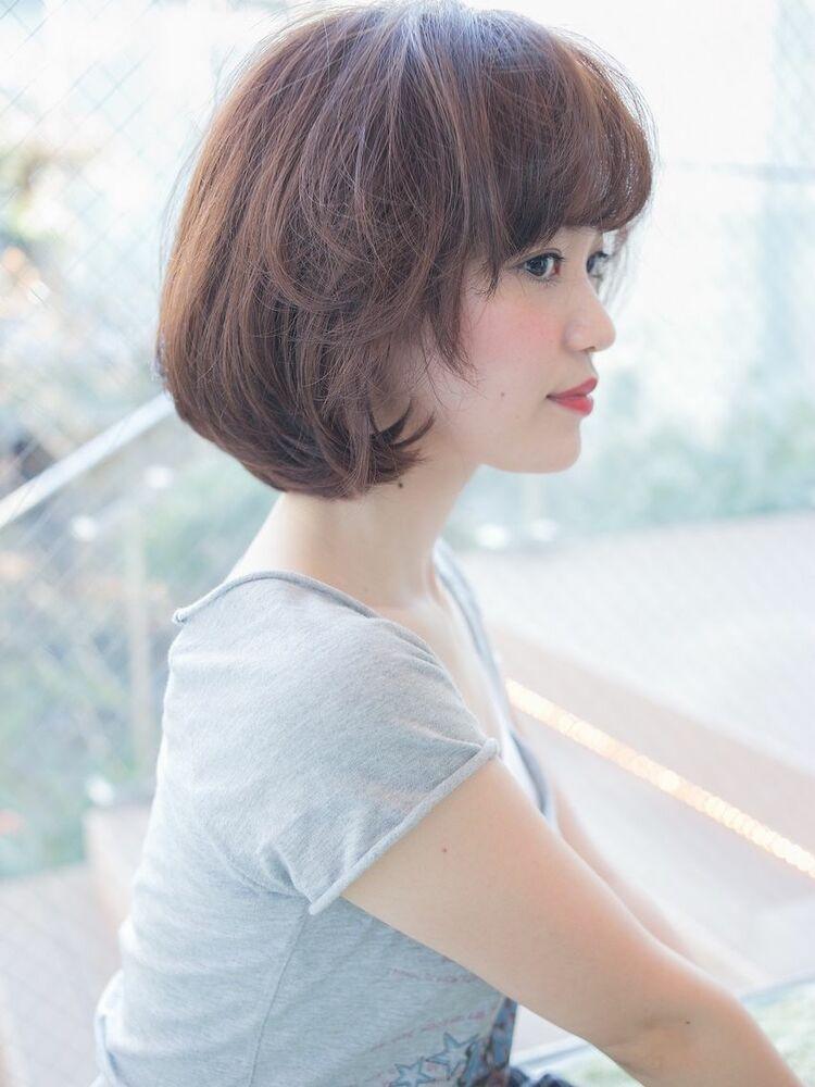 35歳からの前髪毛束感とふんわり感が大人かわいいヘアスタイル