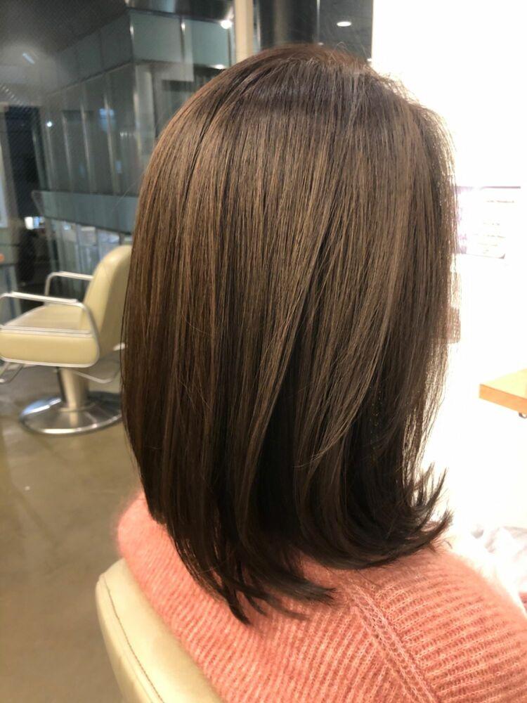 2回の髪質改善で40代でもこんなに綺麗なヘアスタイルに薬剤設定で周りの人に差をつけるヘアスタイル