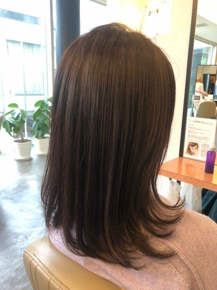 3回の髪質改善で40代でもこんなに綺麗なヘアスタイルに薬剤設定で周りの人に差をつけるヘアスタイル