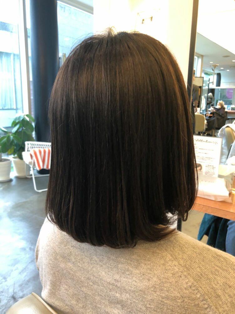 髪質改善で40代でもこんなに綺麗なヘアスタイルに薬剤設定で周りの人に差をつけるヘアスタイル