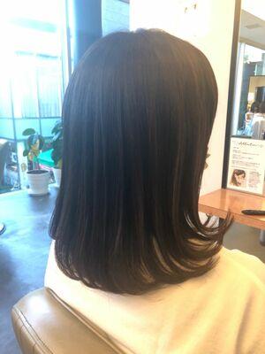 髪質改善でストレートパーマ後も楽チンストレートスタイル