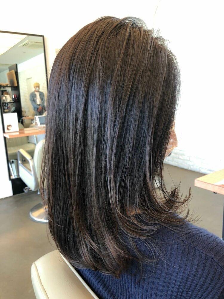 40代でもツヤ髪を大事にカットで変わるヘアスタイル