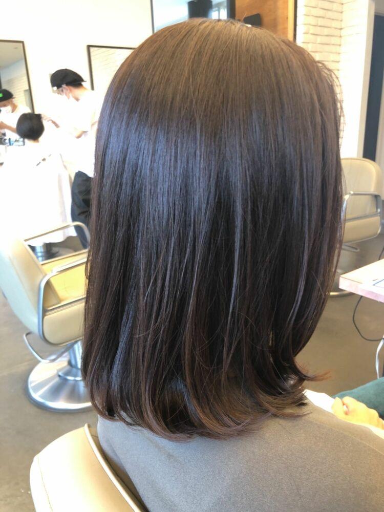 縛れる長さの内巻きヘアスタイル