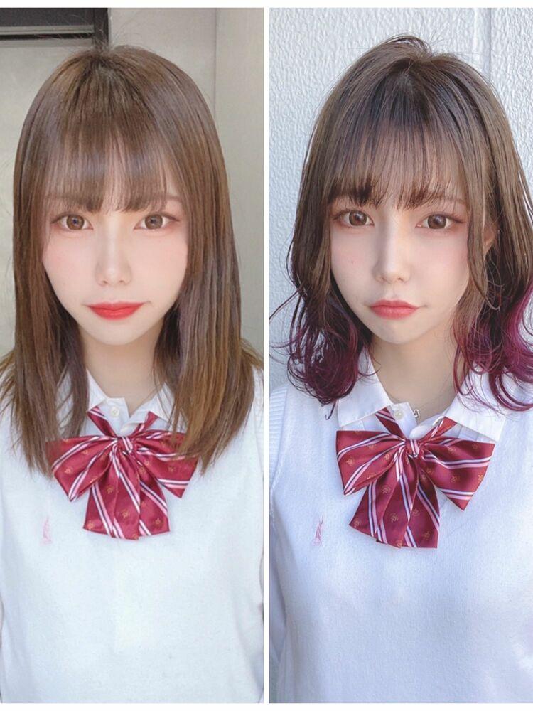卒業イメチェン✨モテ髪ニュアンスグラデカラー