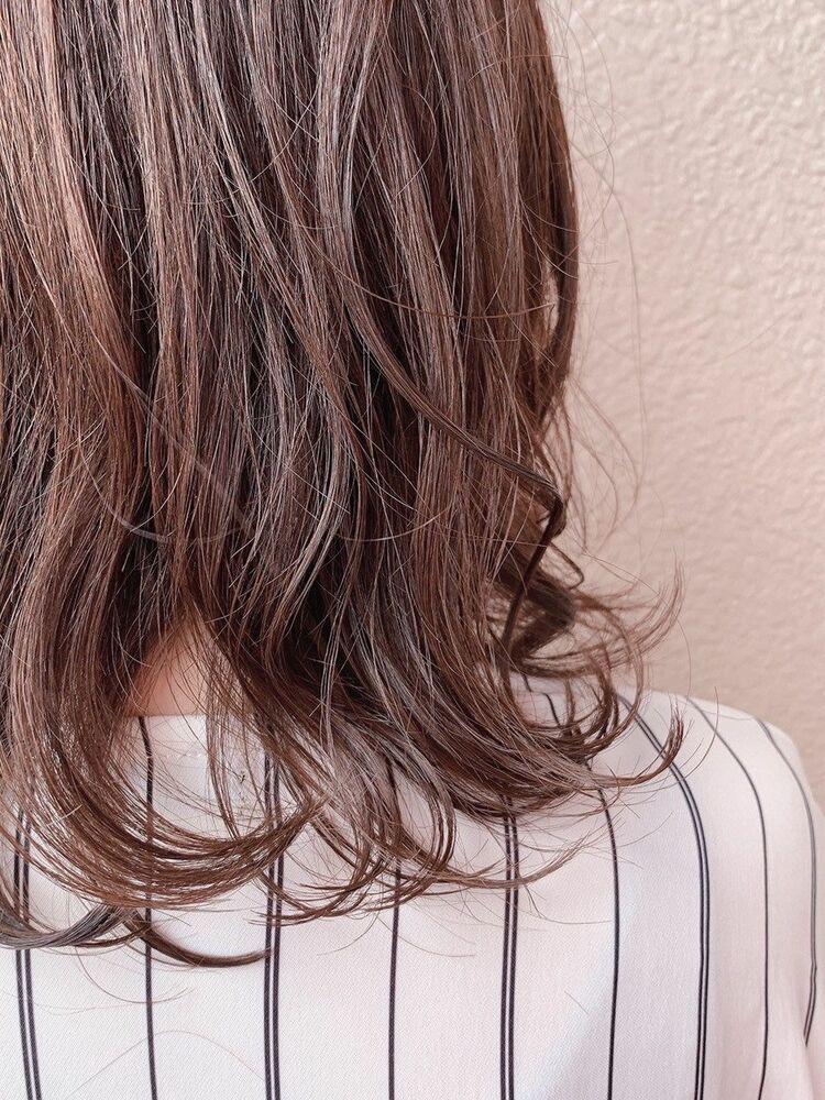 透け感ブラウンカラーで清楚に♩♯韓国風♯西海岸風#グレージュ#ベージュ#オリーブ#アッシュ#ピンク