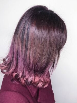 ピンクバイオレット♡グラデーションカラー