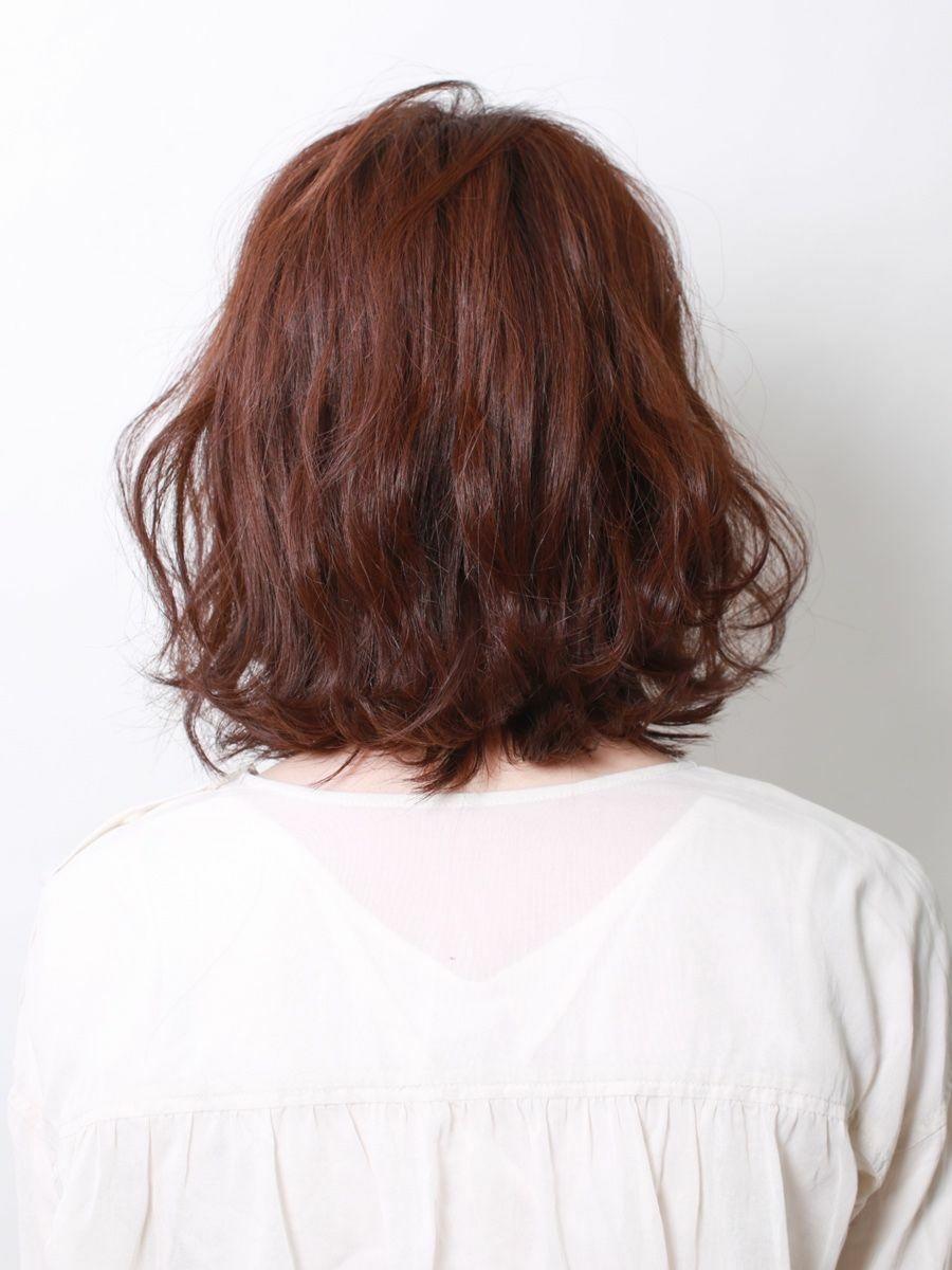 伸ばしかけボブ 巻き髪スタイル
