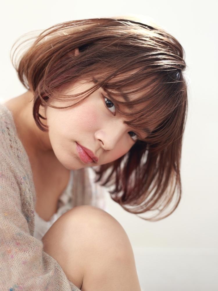 表参道WAKU 土屋佑児 柔らかな雰囲気のピンクベージュカラー×フレンチボブ