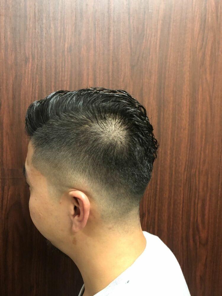 震災刈り×アイロンパーマ 新橋/理容室/メンズ