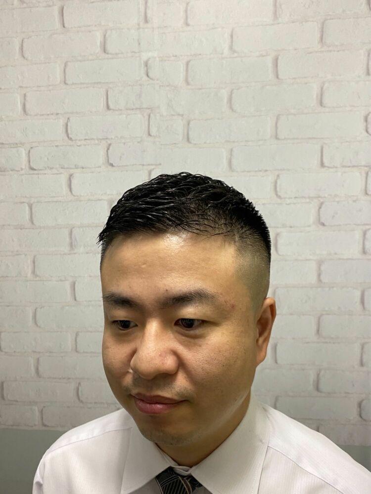 スキンフェード×濡れパンチ!新橋/理容室/メンズ