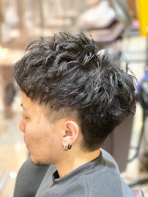 短髪刈り上げツイスパ