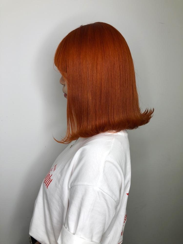 韓国ヘア×オレンジ