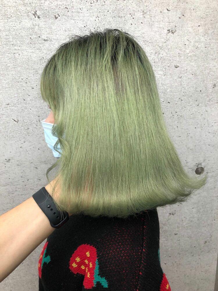 韓国ヘア×ミントグリーン