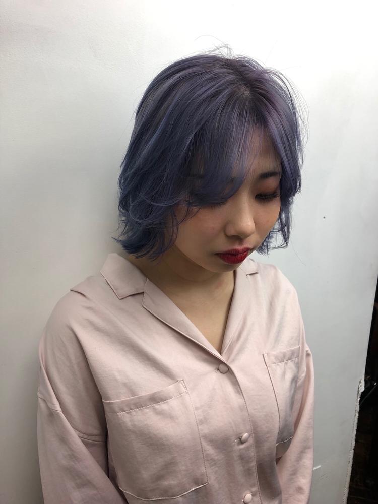 韓国ヘア×ブルーラベンダー