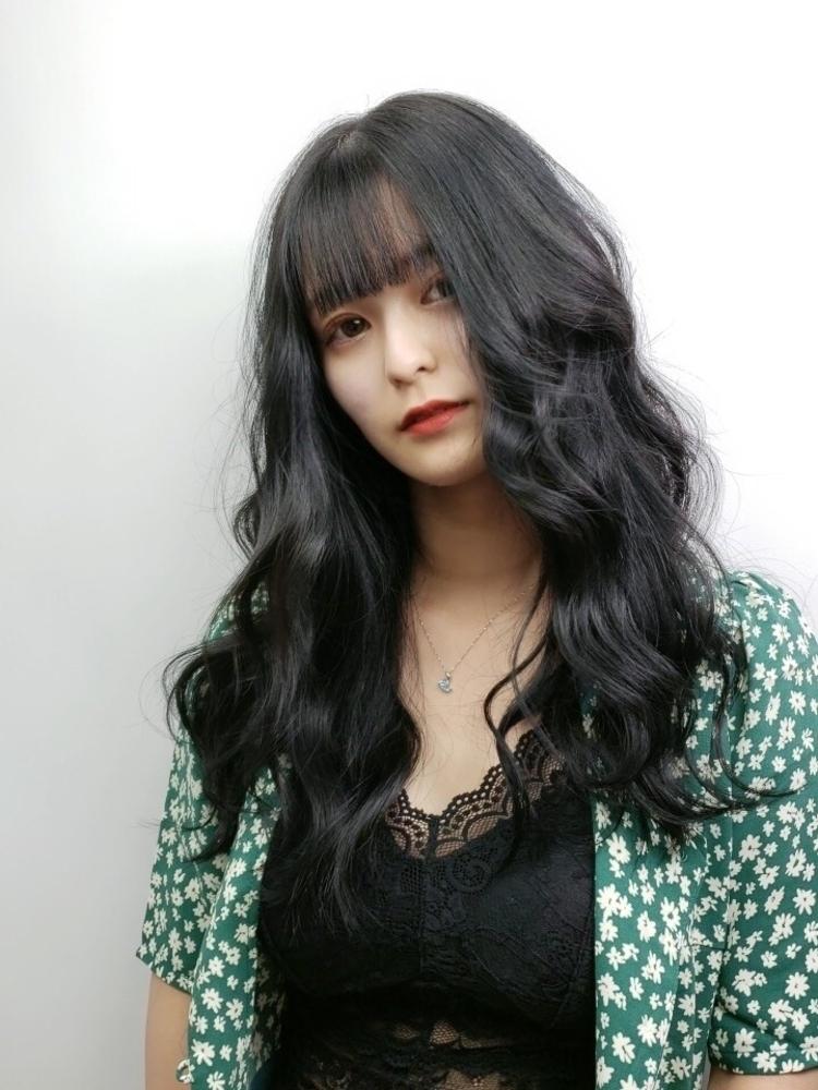 韓国ヘア×ブルーブラック
