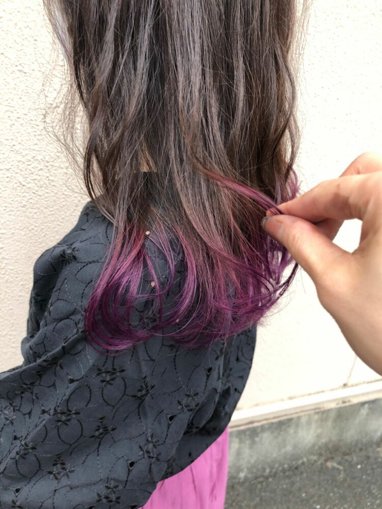 紫が際立つグラデーションカラー