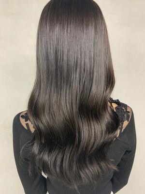透明感抜群🤍暗髪グレージュ🎶🖤
