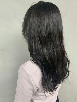 透明感暗髪✨ブルージュ STYLE💙