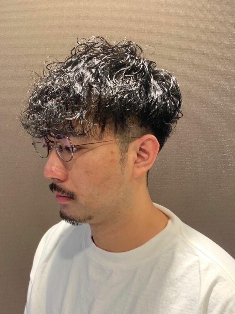 ツイストパーマ×ショートツーセクションマッシュ/ヒロ銀座/六本木/理容室