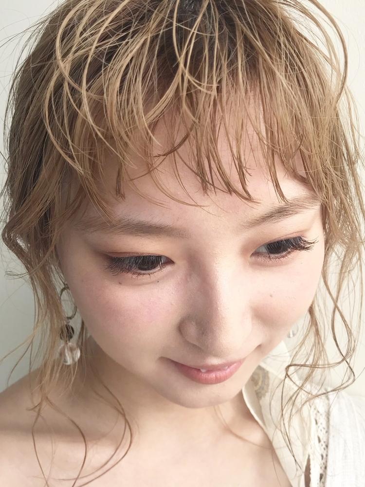 くしゃオン眉×簡単アレンジ