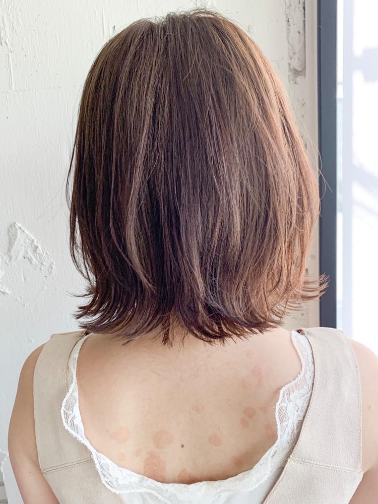 dydi大人可愛い美髪デジタルパーマアッシュベージュくびれミディ♪