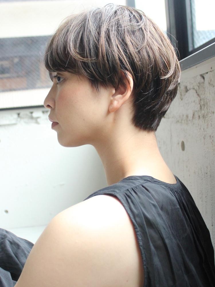dydi大人可愛い美髪デジタルパーマアッシュベージュマッシュショート