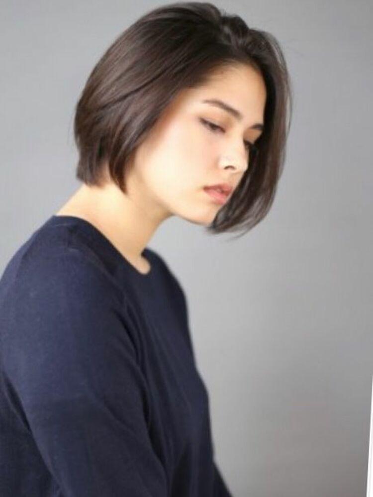 オトナの前髪長めハンサムボブ☆
