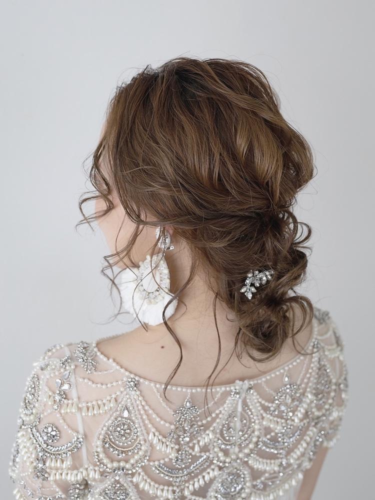 結婚式、お食事会、お出かけ前のヘアアレンジに銀座・東銀座・オージュア・ヘアセット