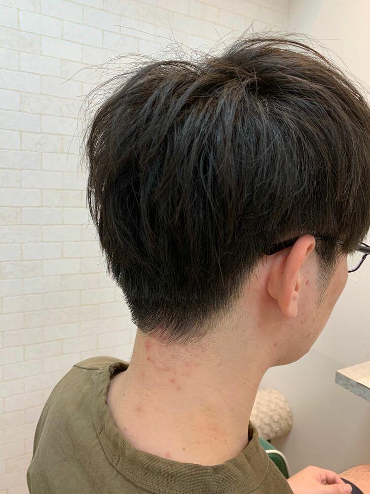 韓流黒髪マッシュ