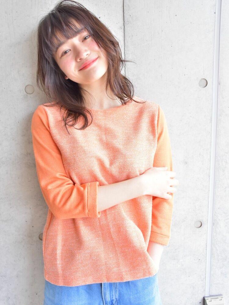 ひし形ミディアム〜くびレイヤースタイル〜