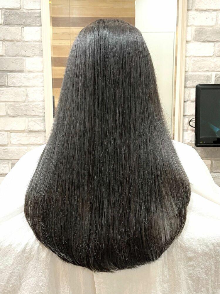 透明感と柔らかさを髪質改善とグレージュで