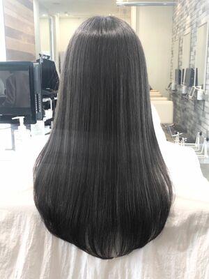髪質改善で透け感と抜け感を。