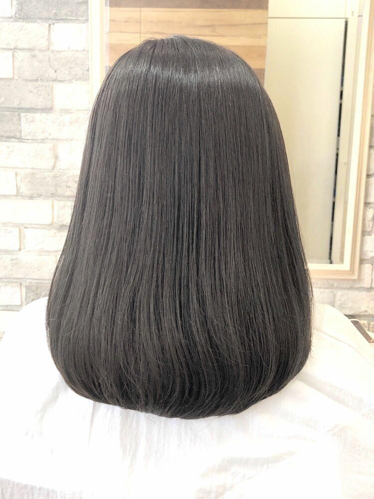 ゼロアルカリ&暗髪透明感グレージュ