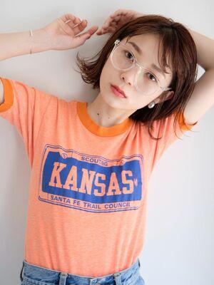 《ささきまさき》『髪質改善カット』+ブリーチなしでできるオレンジベージュ