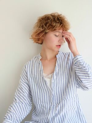 《ささきまさき》『髪質改善カット』×ショートレイヤー×オレンジベージュ