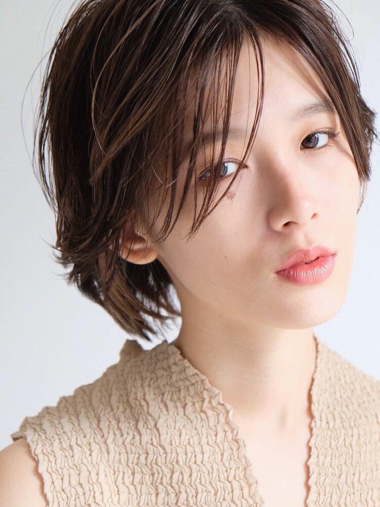 《ささきまさき》『髪質改善カット』×ハンサムショート×ナチュラルベージュ