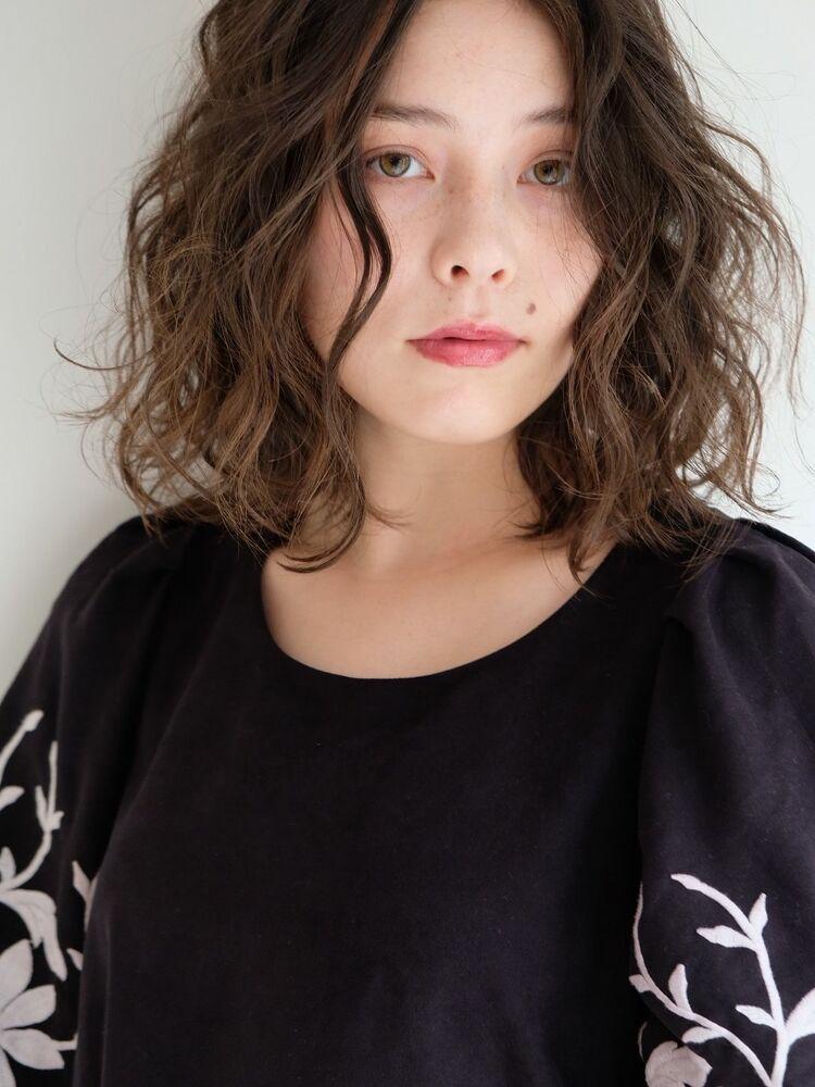 《ささきまさき》『髪質改善カット』×レイヤーボブ×スパイラルパーマ
