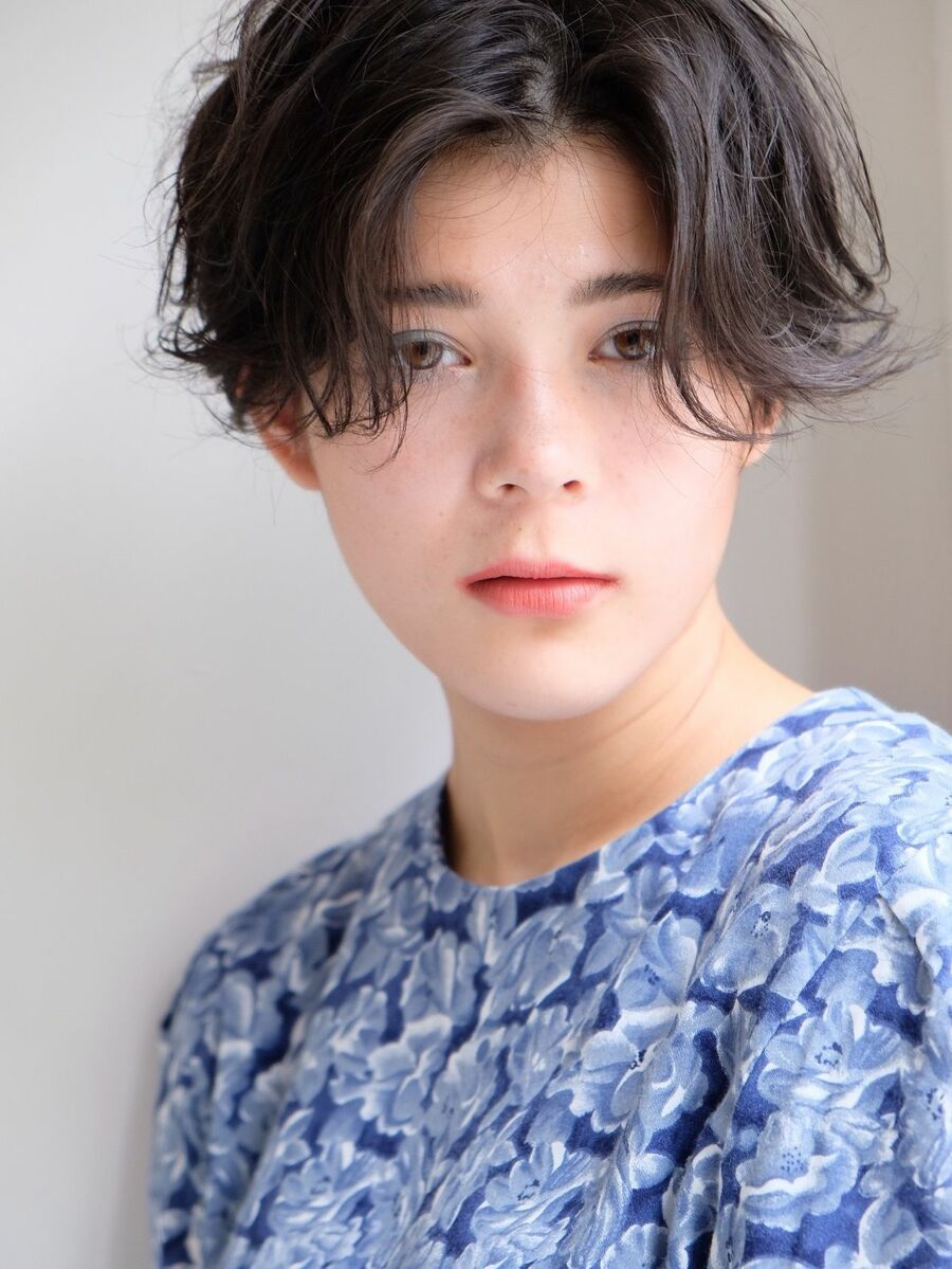 《ささきまさき》『髪質改善カット』×ハンサムショート×くせ毛風パーマ