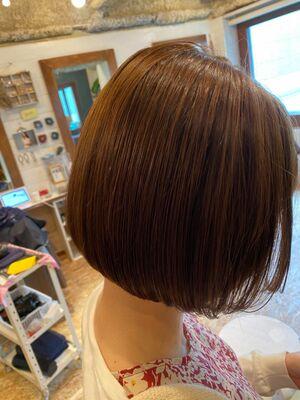 《ささきまさき》『髪質改善カット』+すきバサミを使わないボブ