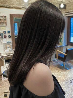 《ささきまさき》『髪質改善カット』+ダークグレージュ+シスキュア