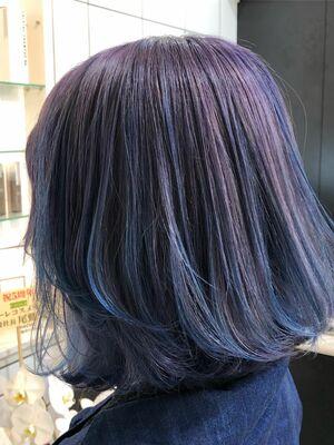 SHACHU KONNO ラベンダー ブルー グラデーションカラー