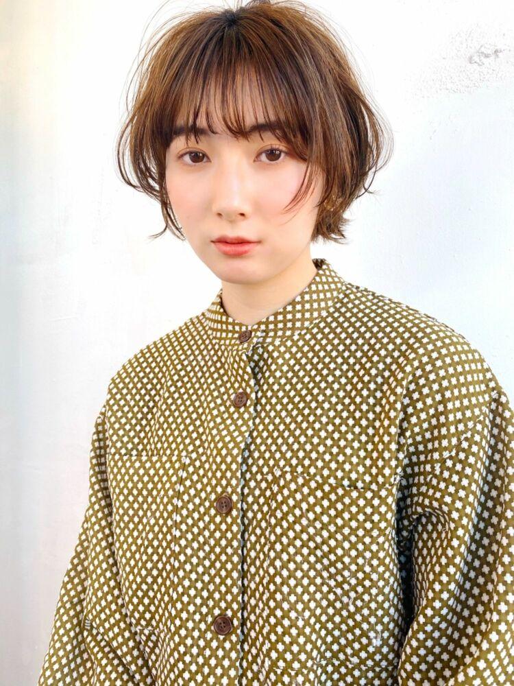 ひし形シルエットふんわりshort hair