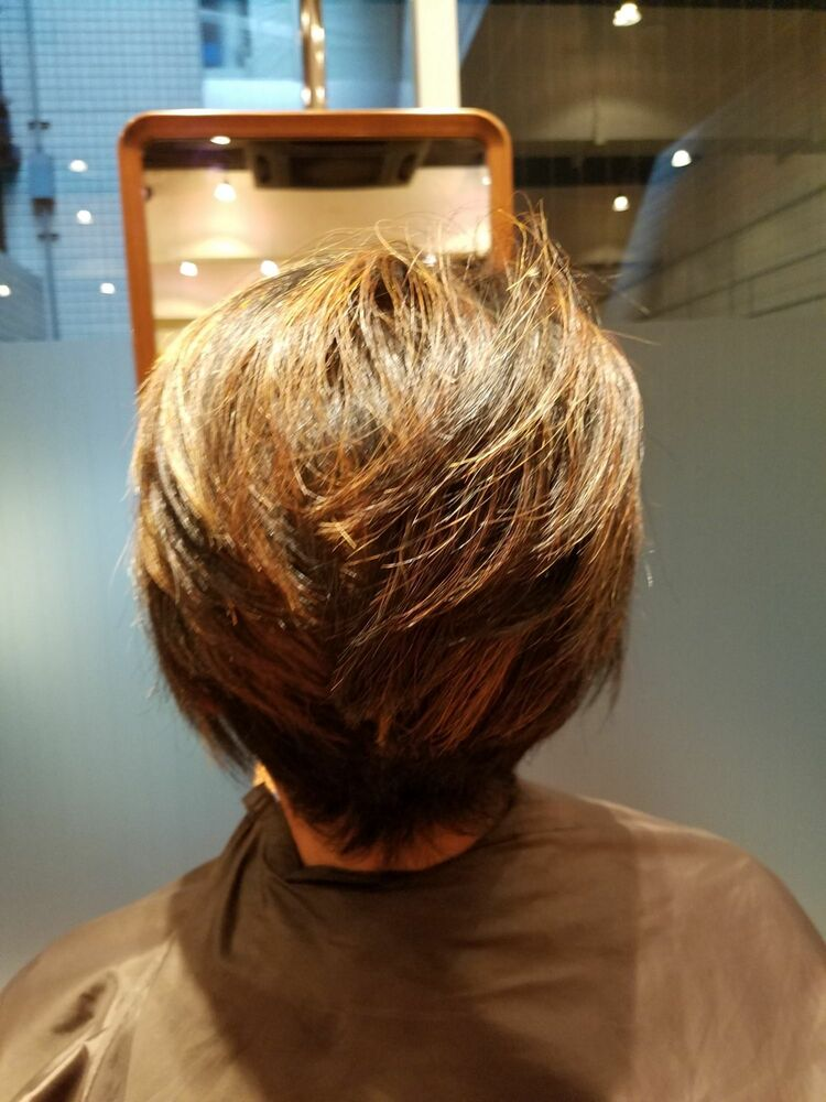 50代ボブスタイル、ヘナカラーで髪健康