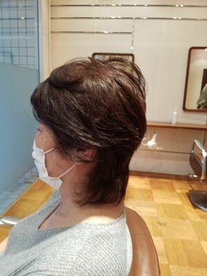 50代定番ミディアムヘア