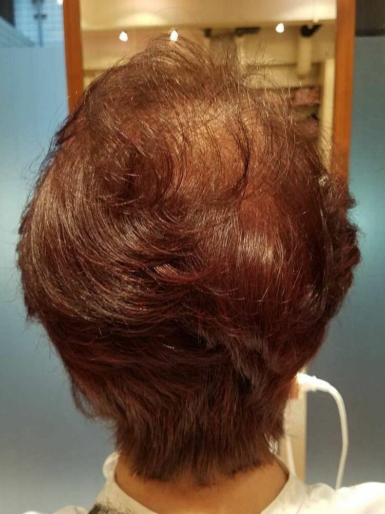 70代ふわふわミディアムヘア