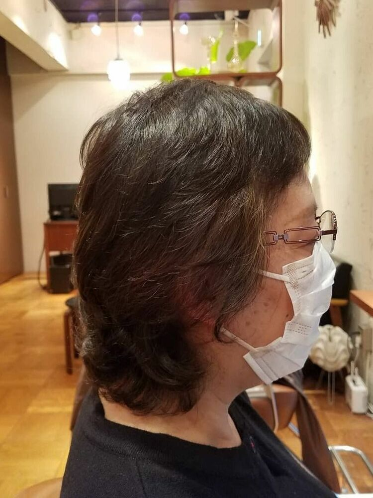 50代ミディアムヘア