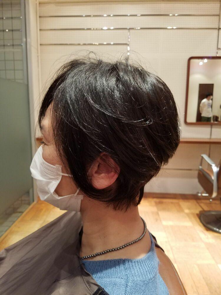 50代ボブスタイル、ヘナカラーで髪の健康を守ります
