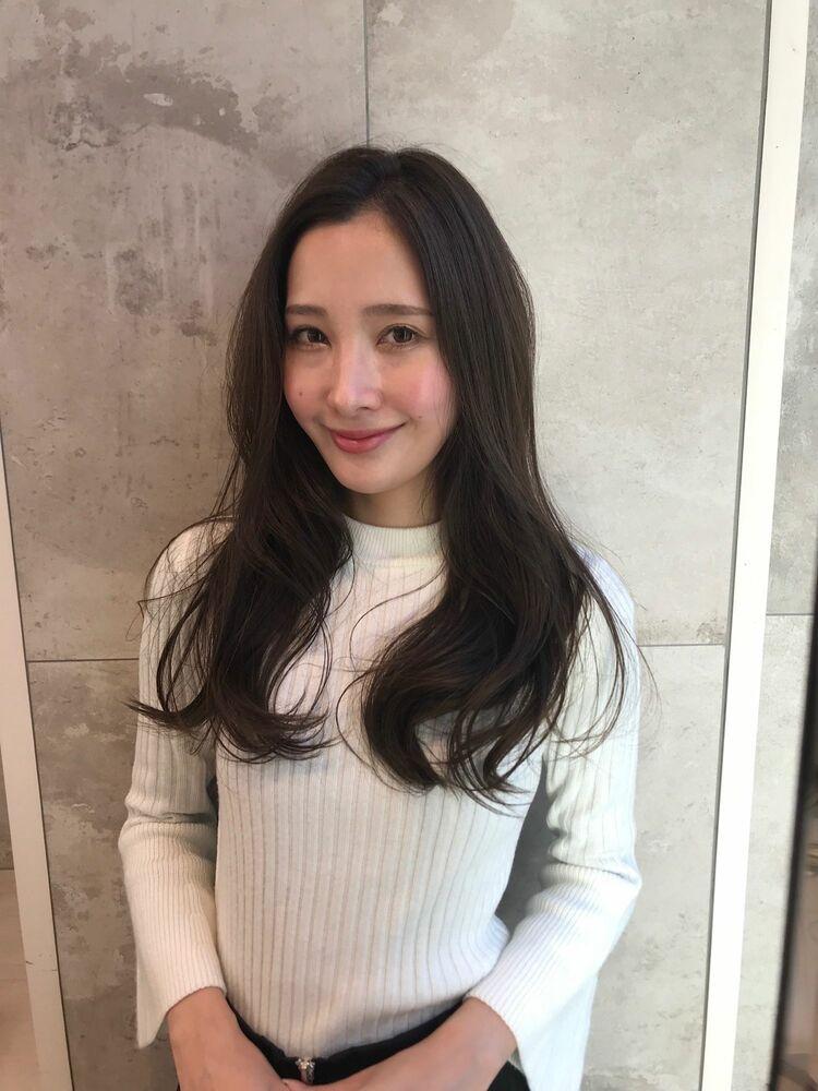 オトナ女子 ゆるふわ ツヤ髪ロング