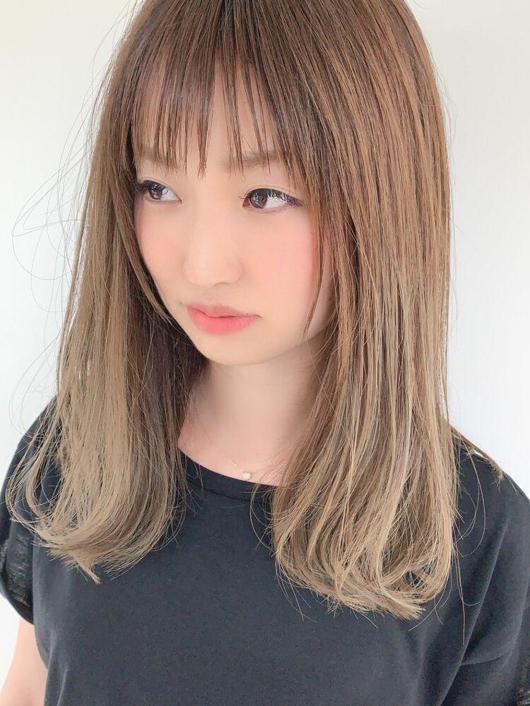 ☆シースルーバング ゆるふわ外ハネスタイル☆