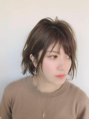 ☆小顔効果のある束感ショート 伸ばしかけボブルフ☆